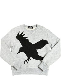 DSQUARED2 Bird Printed Cotton Sweatshirt
