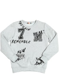 MSGM Print Patches Cotton Sweatshirt