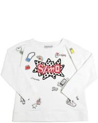 Simonetta Simo Printed Cotton Fleece Sweatshirt