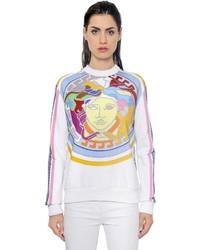 Versace Logo Printed Cotton Jersey Sweatshirt