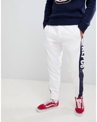 Polo Ralph Lauren Cp 93 Capsule Side Logo Cuffed Joggers In Whitenavy