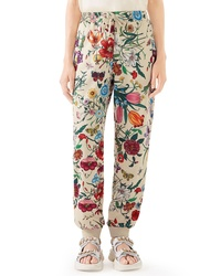Gucci Floral Print Tech Jersey Track Pants