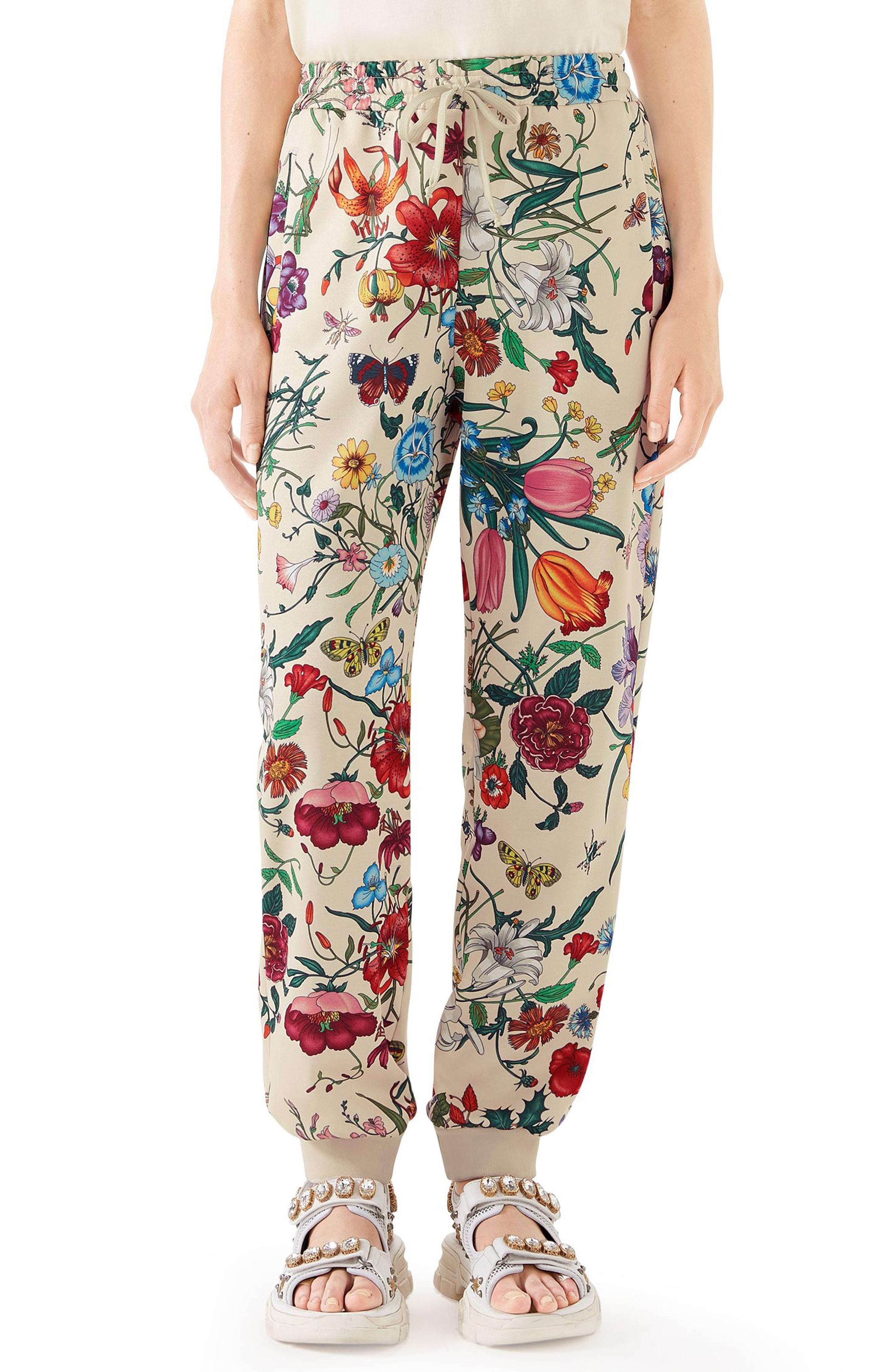 Gucci Floral Print Tech Jersey Track Pants