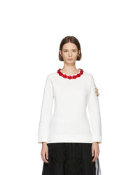 Moncler Genius 4 Moncler Simone Rocha White Necklace Sweatshirt