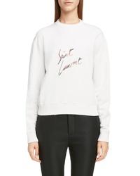 Saint Laurent Animal Logo Sweatshirt