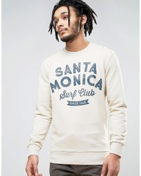 Esprit Crew Neck Sweatshirt With Santa Monica Print