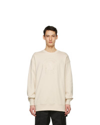 Acne Studios Off White Oversized Embroidered Sweatshirt