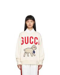 Gucci Off White Oversized Lamb Sweatshirt