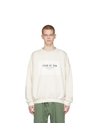 Fear Of God Off White Sixth Collection Patch Logo Sweatshirt