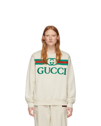 Gucci Off White Vintage Logo Sweatshirt