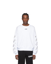 Off-White White Airport Tape Sweatshirt