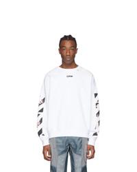 Off-White White Caravaggio Square Arrows Slim Sweatshirt