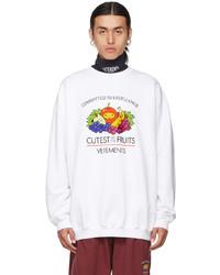 Vetements White Cutest Of The Fruits Sweatshirt