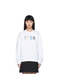 MSGM White Iridescent Sweatshirt