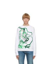 Maison Margiela White Printed Sweatshirt