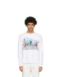 Valentino White Roman Sketches Sweatshirt