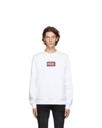 Diesel White S Girk X5 Sweatshirt