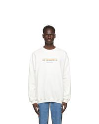 Vetements White Think Differently Sweatshirt