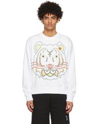 Kenzo White Wwf Edition K Tiger Sweatshirt
