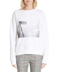 Calvin Klein 205W39nyc X Andy Warhol Foundation American Flag Graphic Sweatshirt