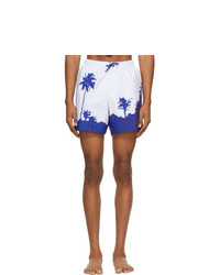 Dries Van Noten Blue Len Lye Edition Graphic Swim Shorts