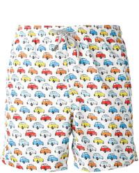 MC2 Saint Barth Car Print Swim Shorts