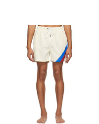 Solid and Striped Off White The Classic Stripe Swim Shorts