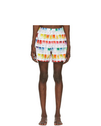 Amiri White Watercolor Swatch Swim Shorts