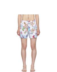 Vilebrequin White Watercolor Turtles Moorise Swim Shorts