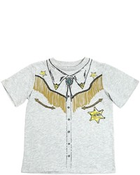 Stella McCartney Cowboy Print Cotton Jersey T Shirt