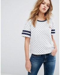 Tommy Hilfiger Denim All Over Print T Shirt With Tommy Heart Logo