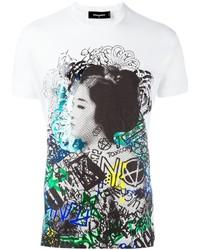 t shirt dsquared2 graffiti