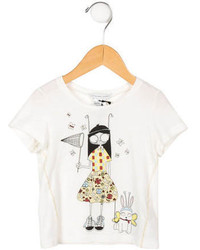 Little Marc Jacobs Girls Graphic Print T Shirt W Tags