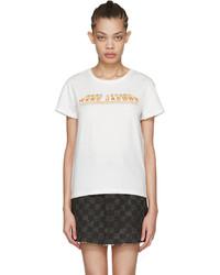 Marc Jacobs Ivory Classic Logo T Shirt