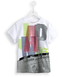 John Galliano Kids Japan Print T Shirt