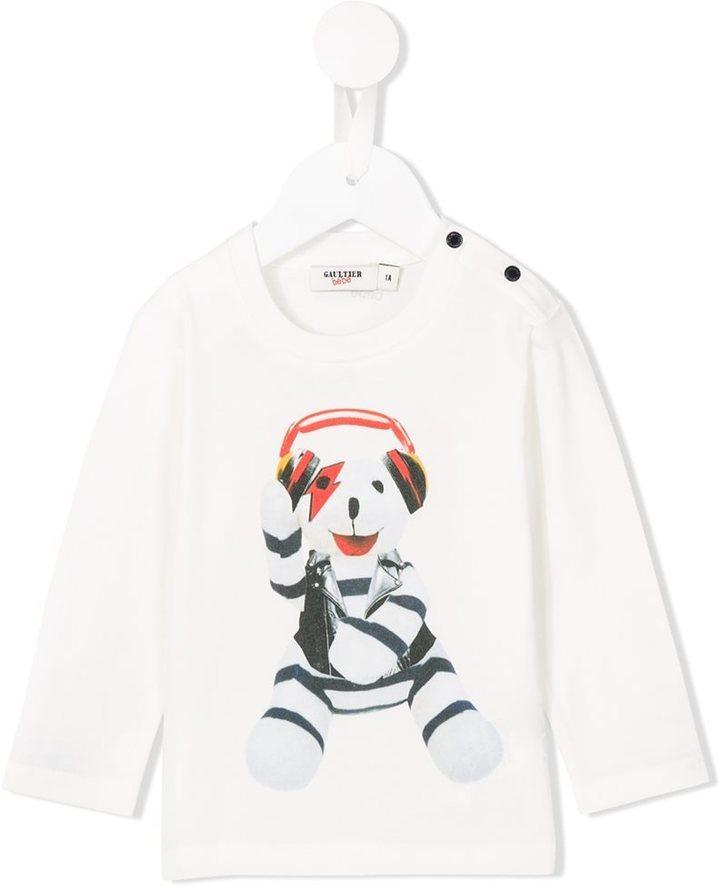 Junior Gaultier Teddy Bear Printed T Shirt