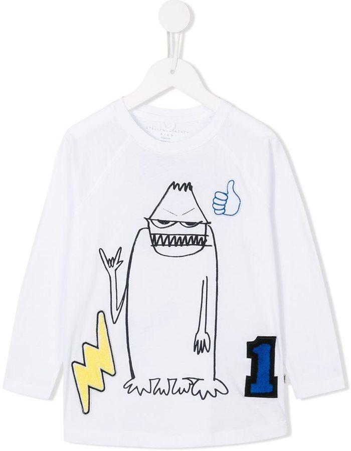 Stella McCartney Kids Max Monster Print T Shirt