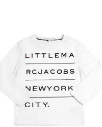 Little Marc Jacobs Logo Printed Cotton Jersey T Shirt