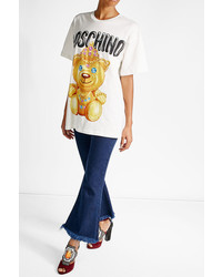 Moschino Printed Cotton T Shirt