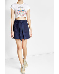 Anna Sui Printed Cropped Cotton T Shirt