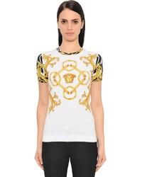 Versace Printed Jersey T Shirt