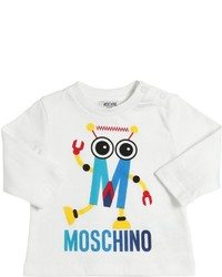 Moschino Robot Printed Cotton Jersey T Shirt