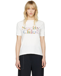 See by Chloe See By Chlo Off White Logo T Shirt