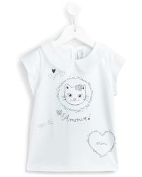 Simonetta Kitten T Shirt With Collar