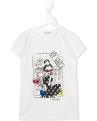 Simonetta Roma Print T Shirt