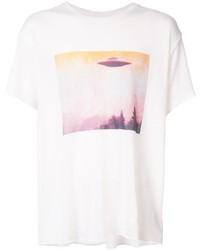 The Elder Statesman Ufo Print T Shirt