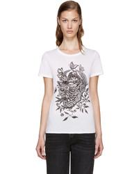 Alexander McQueen White Skull Print T Shirt