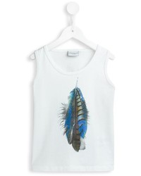 Marcelo Burlon County Of Milan Kids Feather Print Tank Top