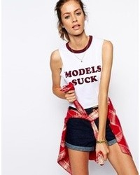 Asos Collection Tank With Models Suck Print