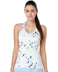 Grand Slam Geo Print V Neck Racerback Tennis Tank